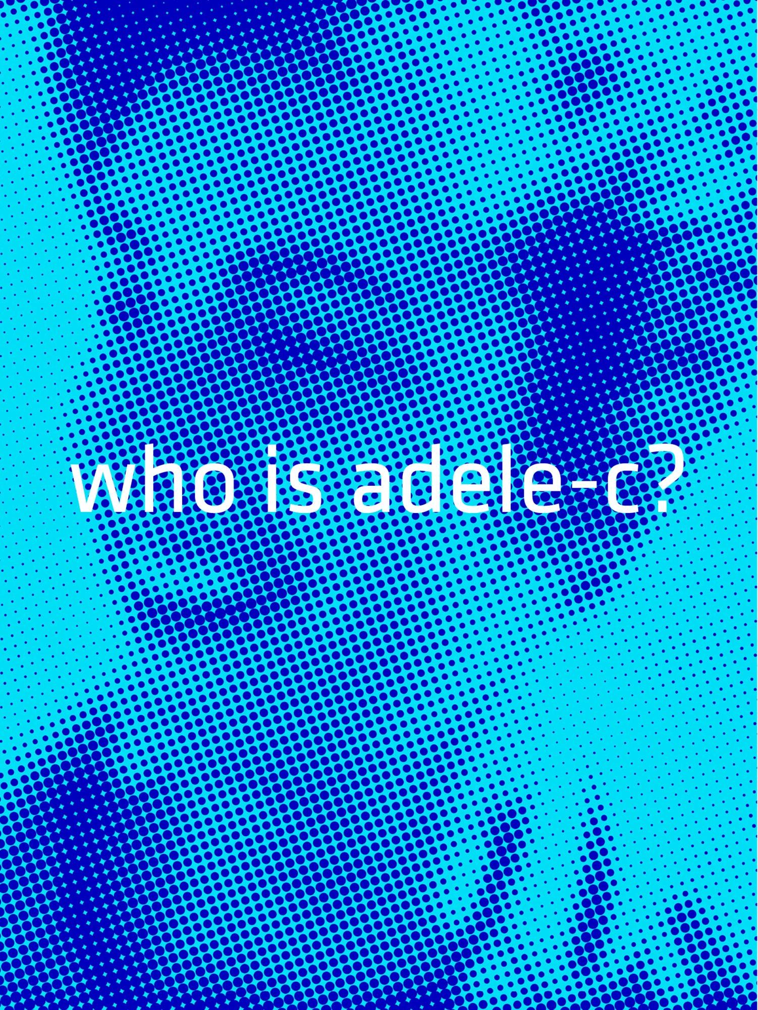 Michael Loos - Postcard-Adele-blue