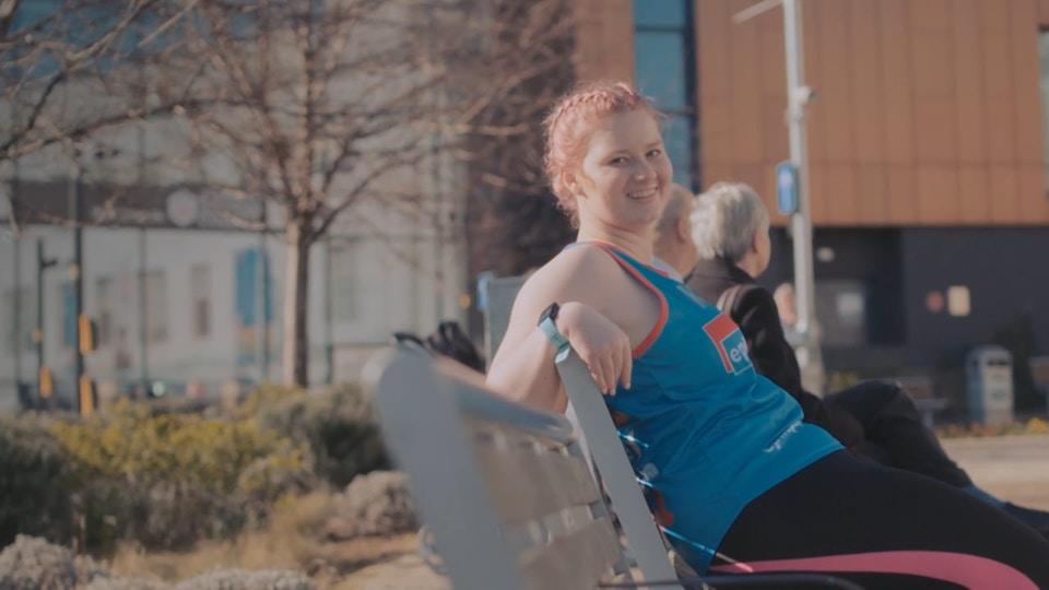 Jessica's parkrun heroes for Sky tv : Katie Lee film