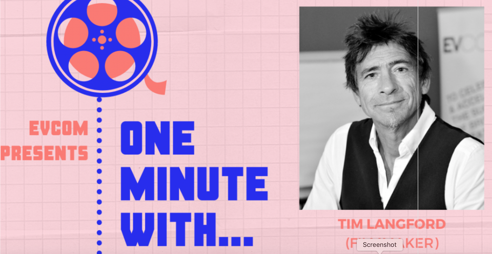 One minute with tim langford, interview about creativity...
