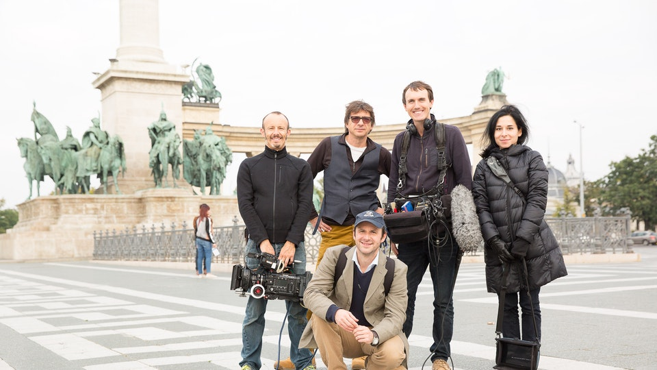 production + awards - Shooting in Heroes Square, Budapest. We were all BP heroes.