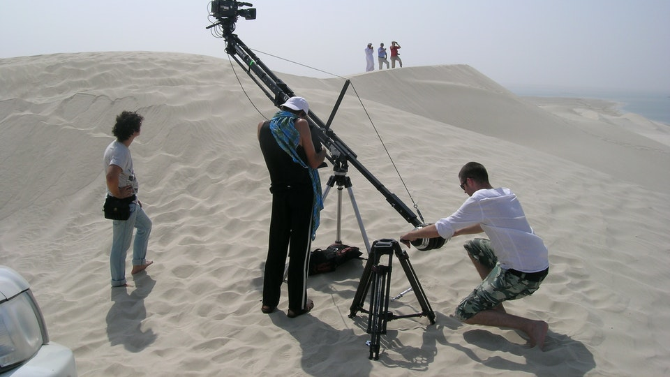 production + awards - Shooting in the desert in Qatar