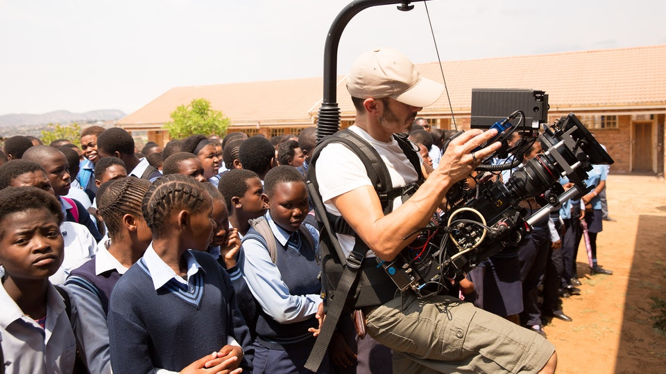 production + awards - On location in South Africa with a thousand school children