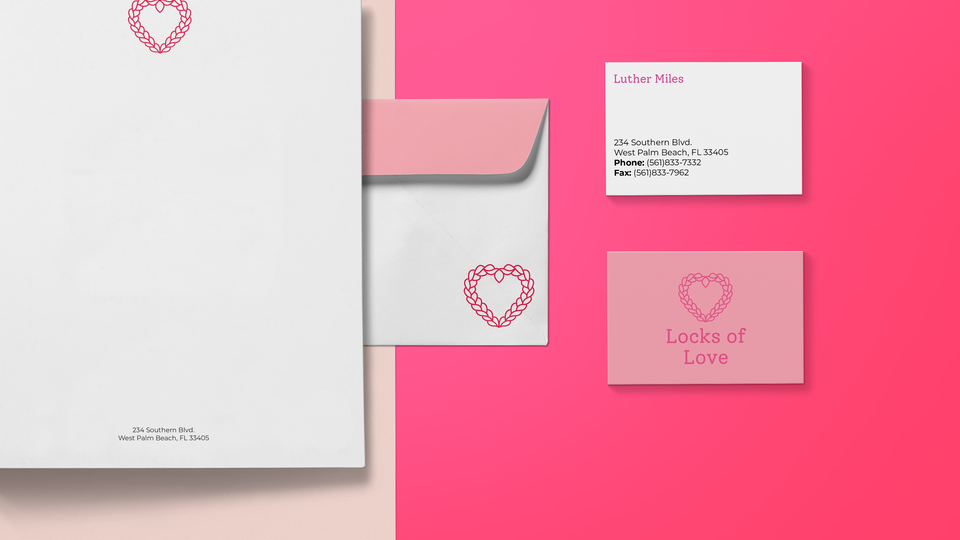 Locks of Love Visual Identity