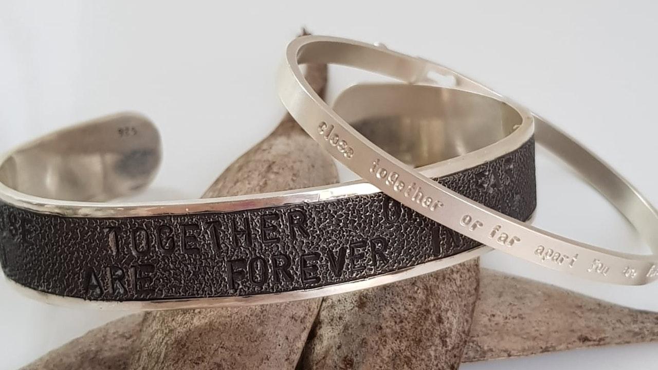 Punched bracelets