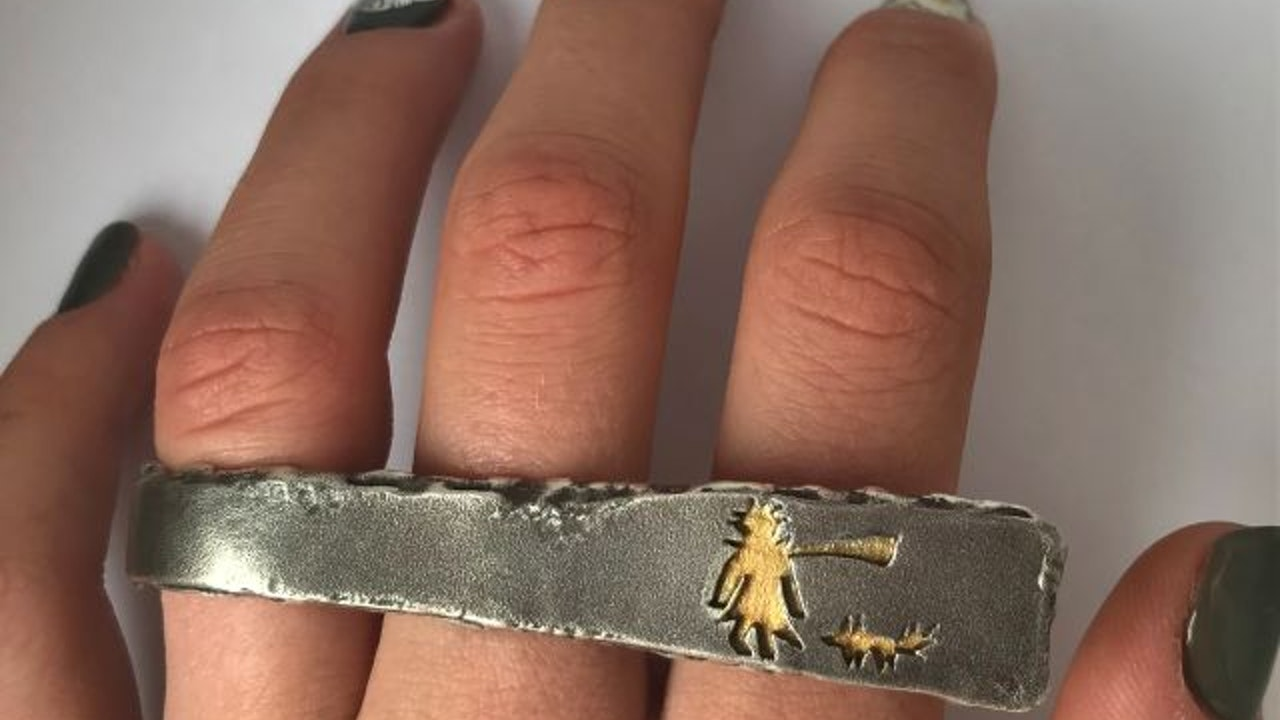 """The little prince's scarf"" ring"