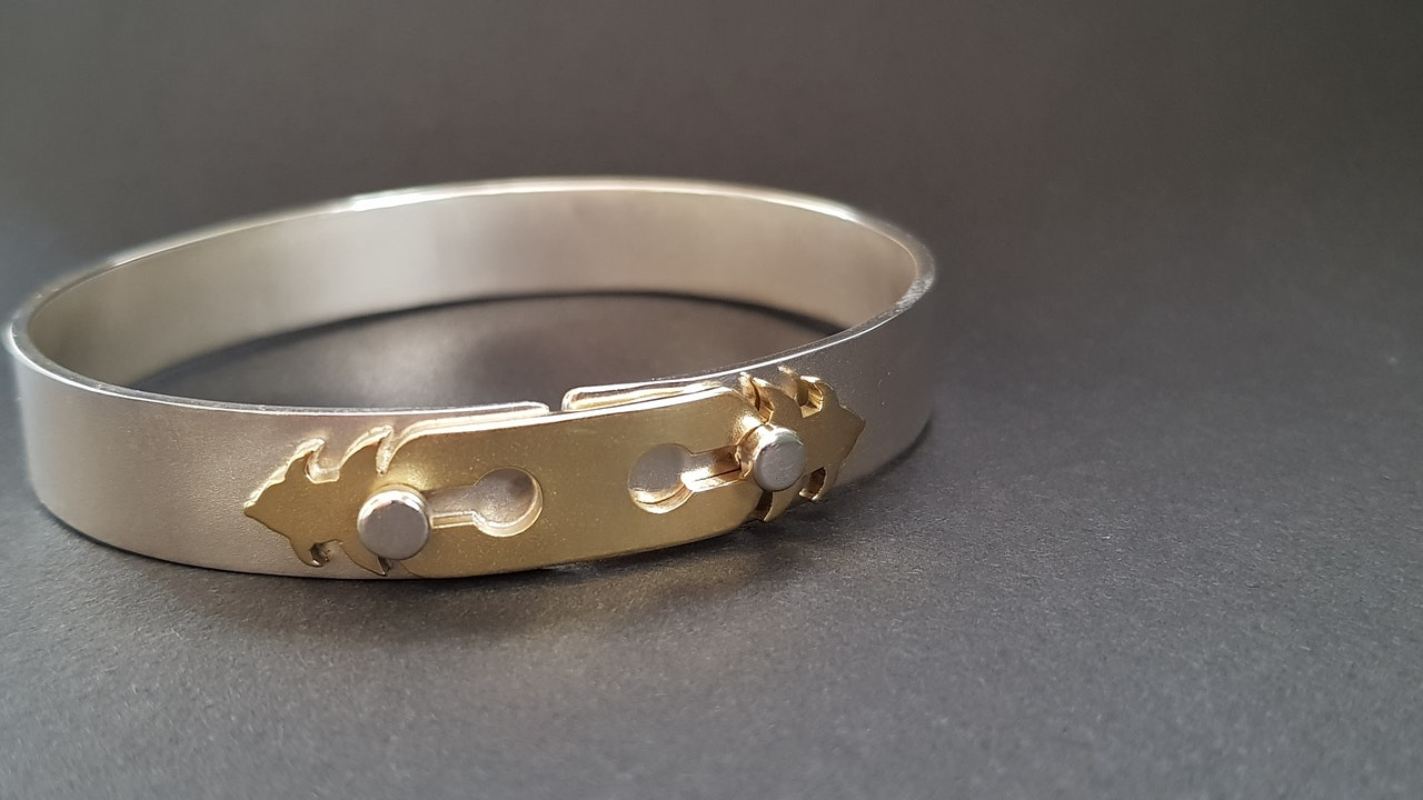 Silver and Brass bracelet