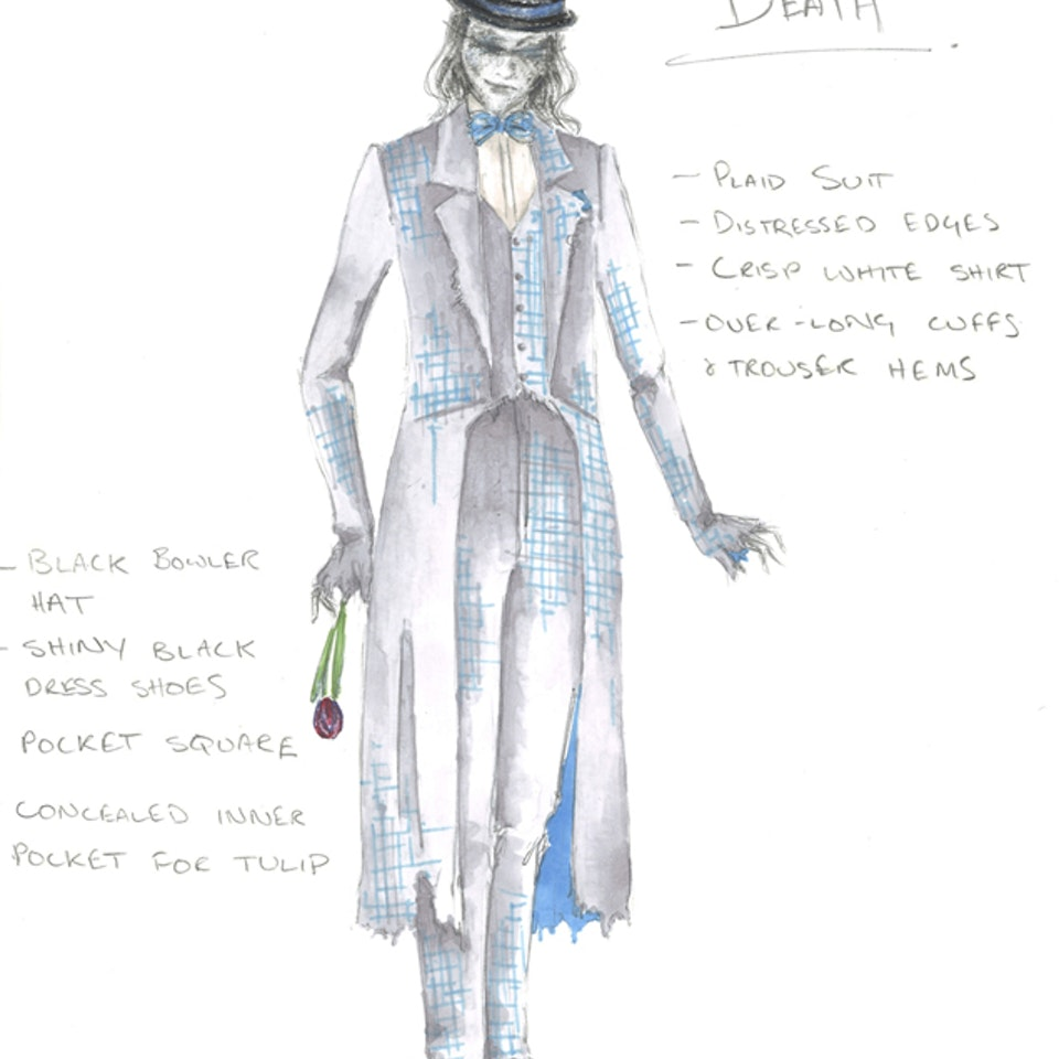 """DUCK, DEATH AND THE TULIP Costume design for """"Duck, Death and the Tulip"""", BGTC/PIF 2013"""