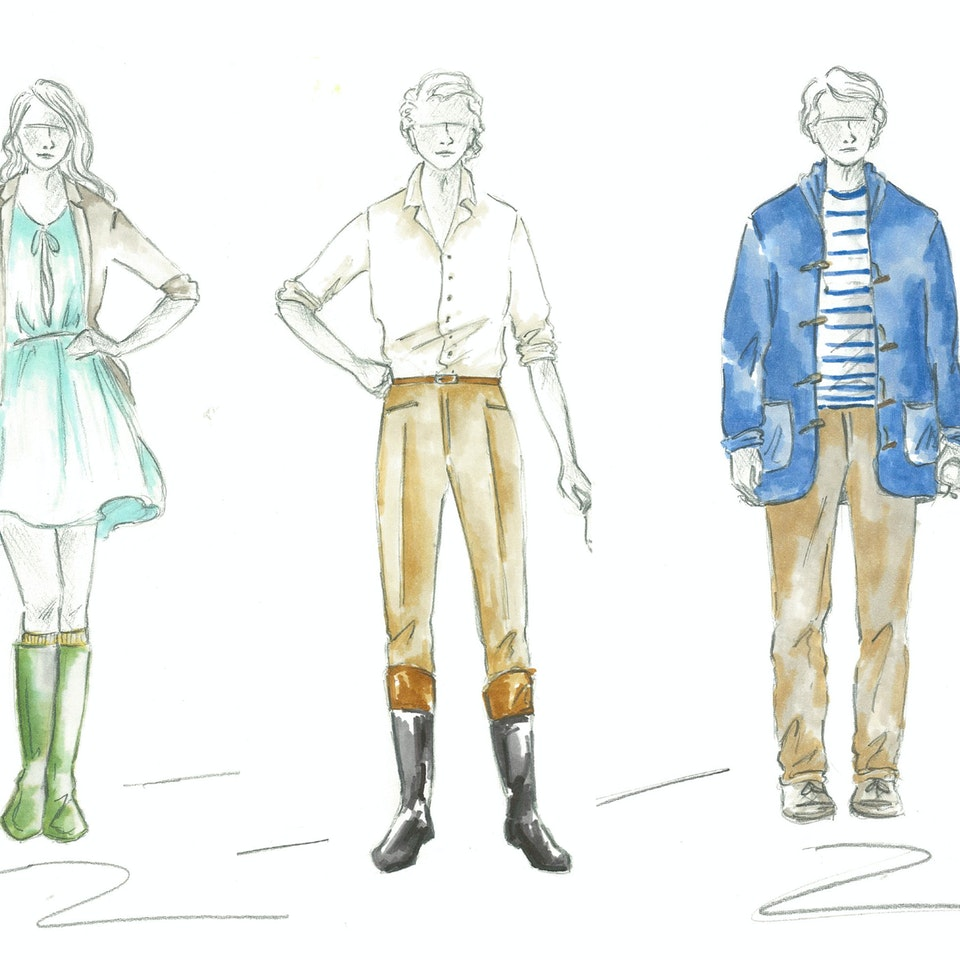 "ARCADIA Costume designs for ""Arcadia""; Black Swan State Theare Company 2012"