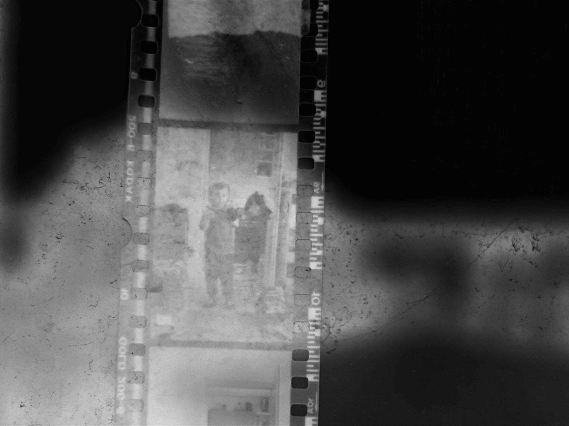 abstract film negative of young filmmaker Maciek Kaliski