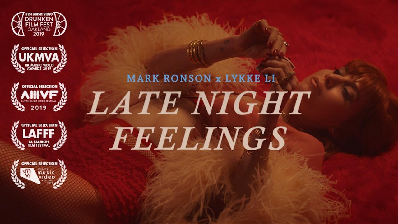 MARK RONSON (FEAT LYKKE LI) - LATE NIGHT FEELINGS