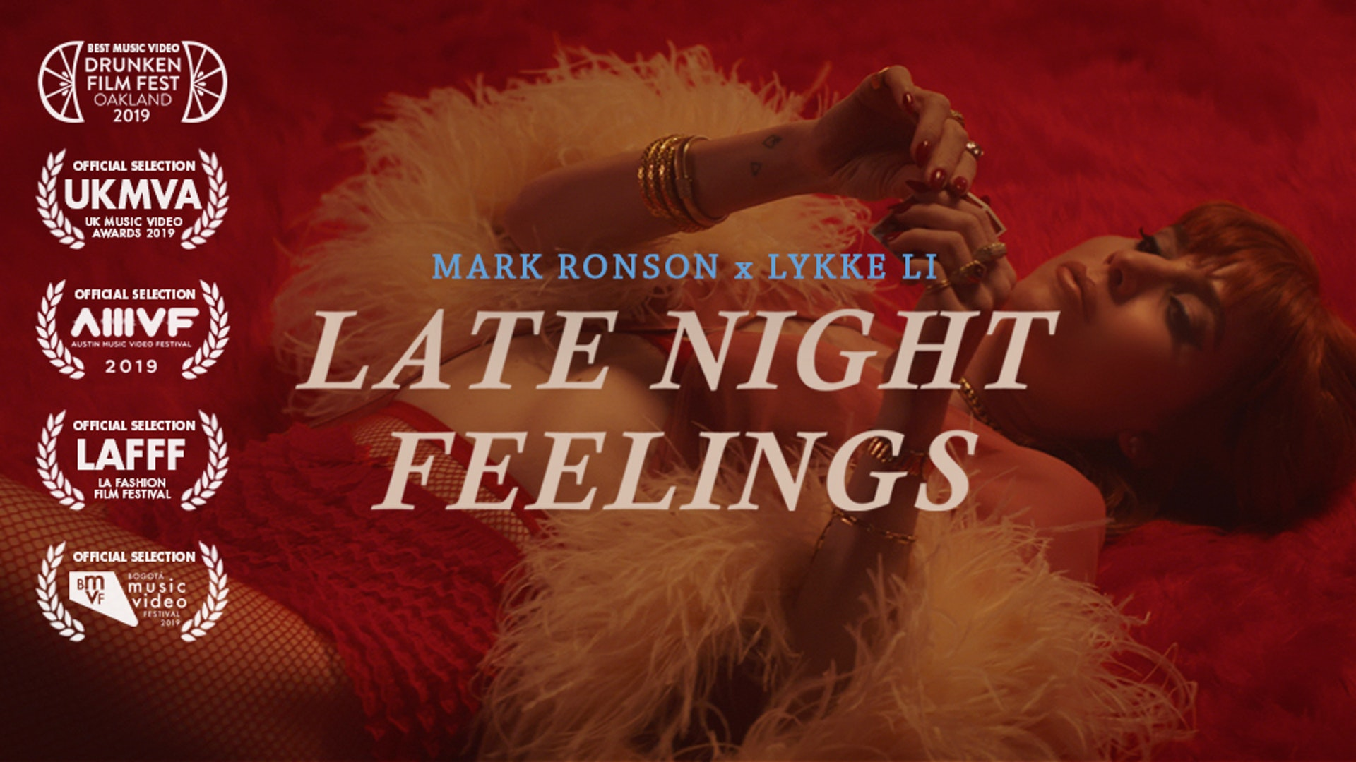 MARK RONSON (FEAT LYKKE LI) - LATE NIGHT FEELINGS