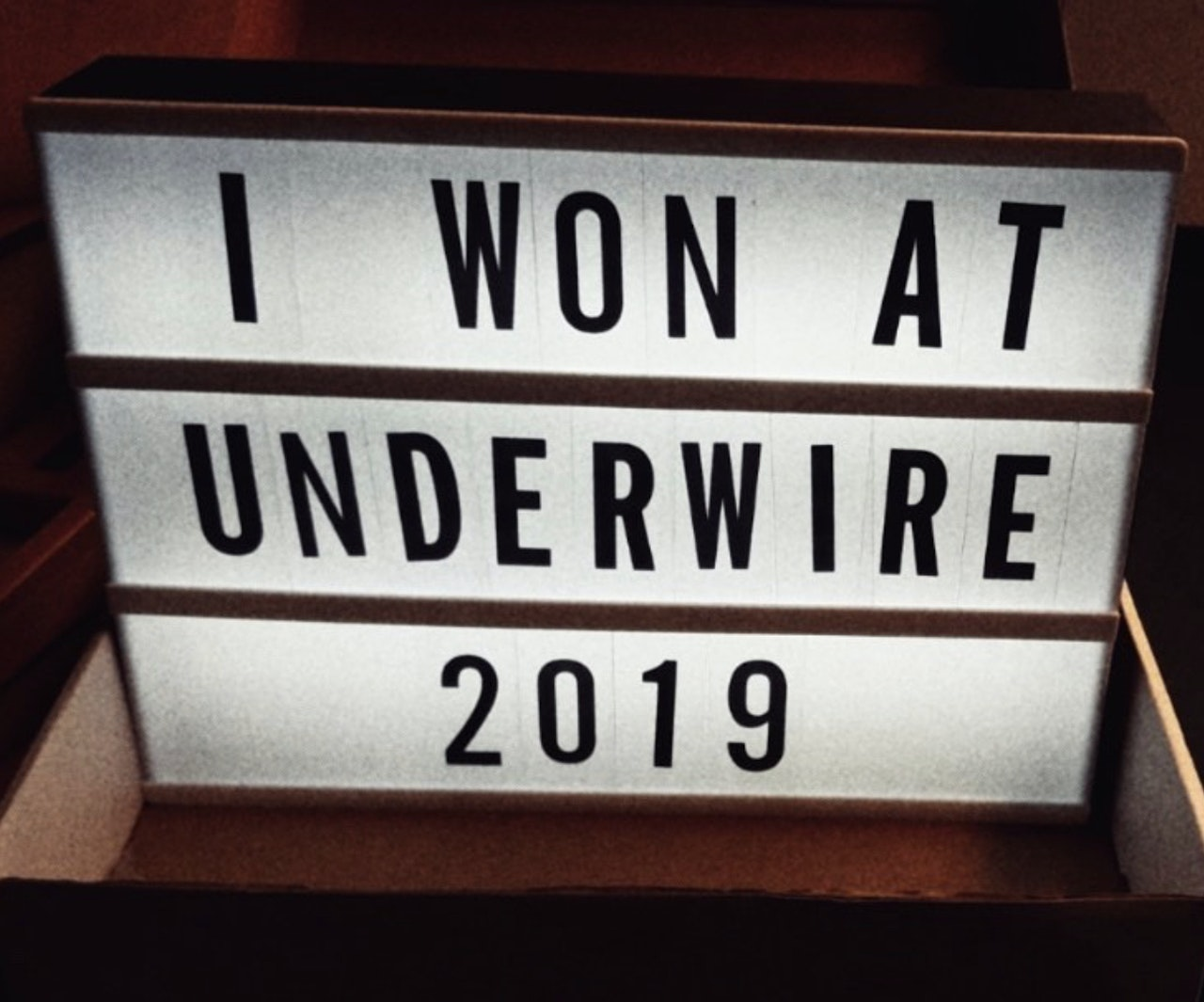 Best Cinematography Award @Underwire Film Festival 2019