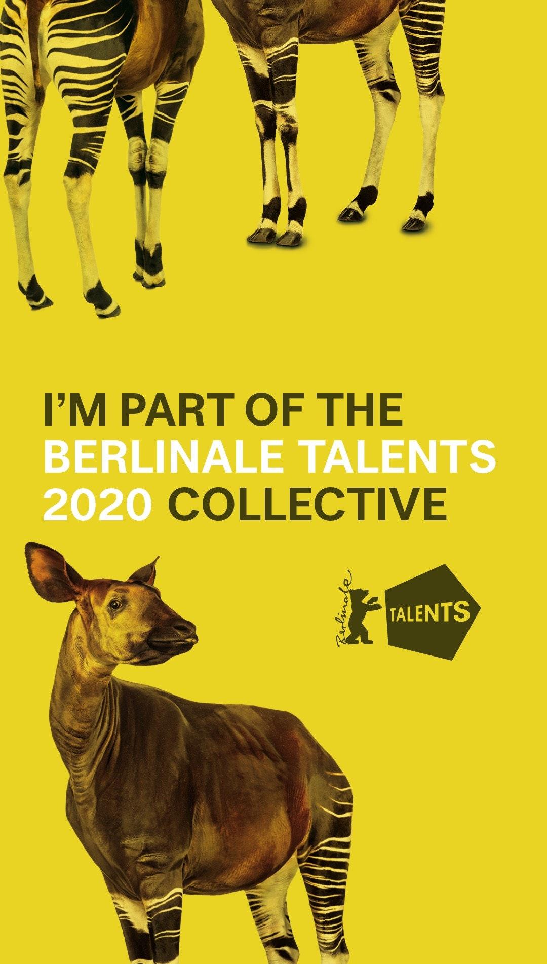 I'm a 2020 Berlinale Talent!