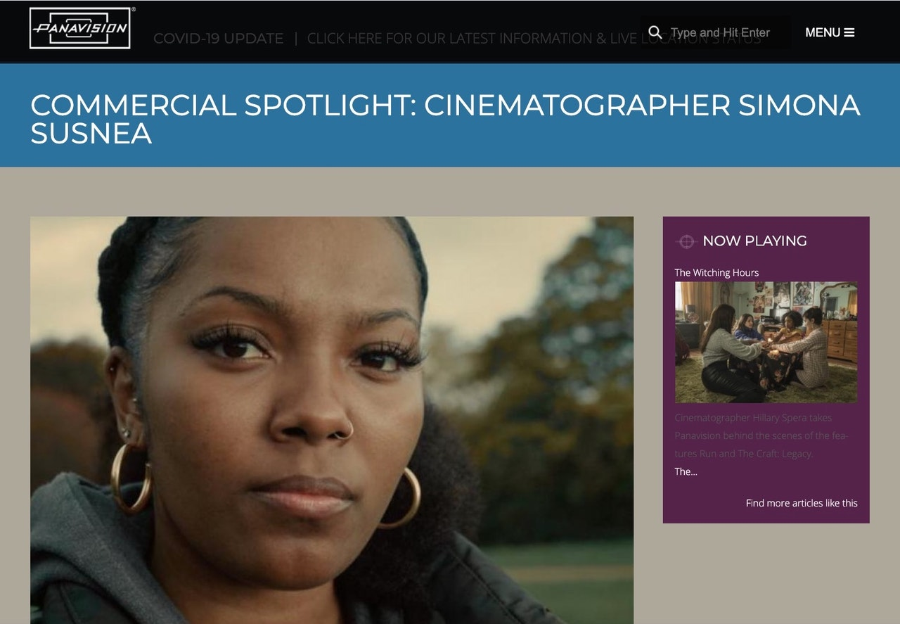 Panavision Commercial Spotlight on my work on the Body Shop Campaign