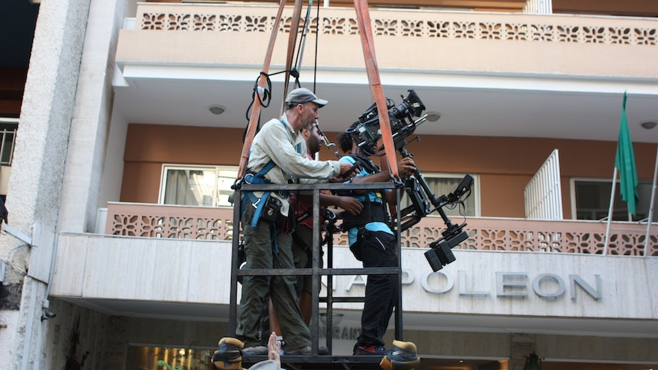 About - About to ascend with Steadicam Operator - Beirut