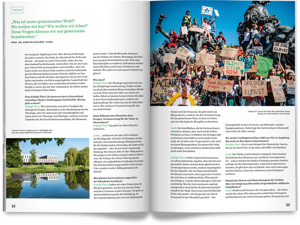 Magazine for Bavarian State Garden Show