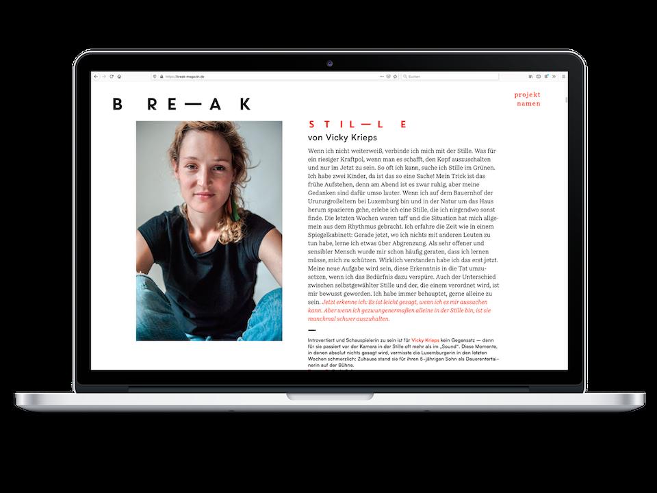 break magazine