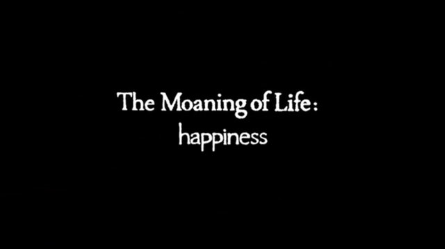 The moaning of life happiness