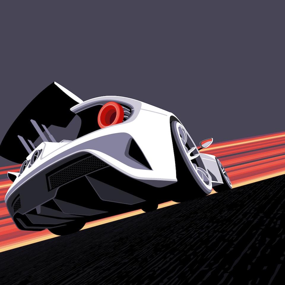 MINIMALISTIC DESIGNS - FORD GT 2017