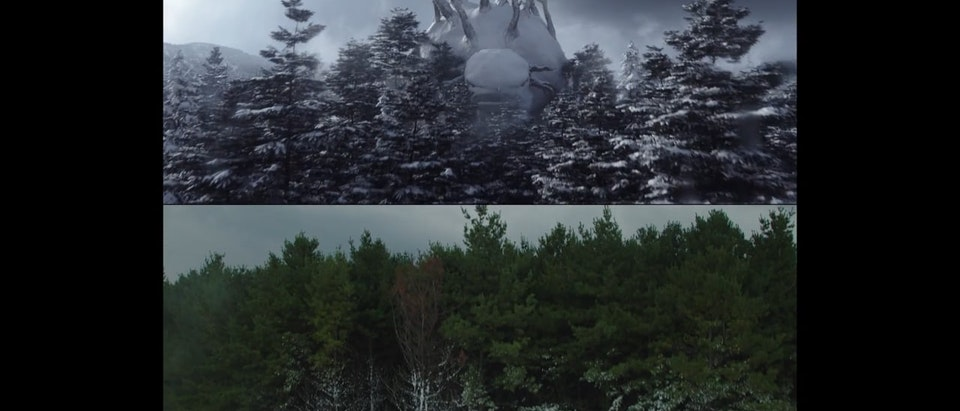 Nissan Rogue » Return of the Snowman Nissan: Return of the Snowman VFX Before & After