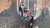 The Reason I Jump - Jim being filmed at Ouse Valley Viaduct