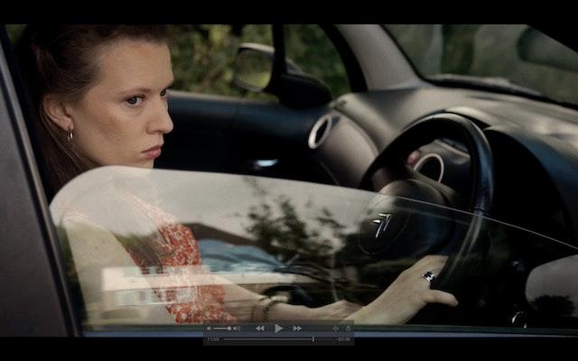 """""""Kayla"""" Still 3 - waiting in the car 1"""