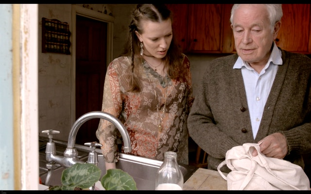 """Kayla"" Still 6 - Sarah & Stanley at the sink"