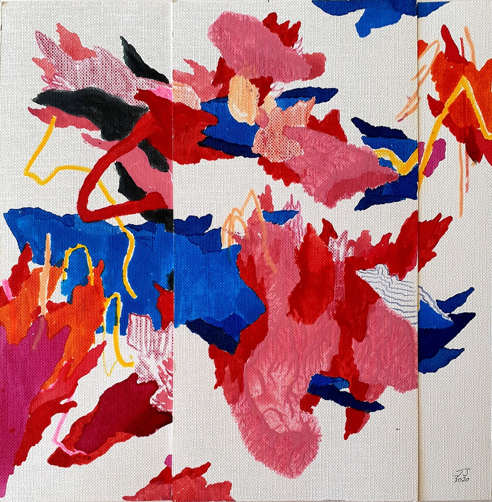 "Spark_2020_JustinSouthey_B - Justin Southey 2020 ""Spark"" Pencil and Acrylic Ink on Fabriano 20cm x 20cm Everard Read Johannesburg/Circa Rosebank ZAR 7800"