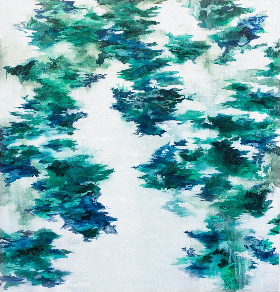 "Nemus_JustinSouthey_2019 - Justin Southey 2019 ""Nemus"" Oil on Canvas 1680mm x 1600mm ZAR 52 000"