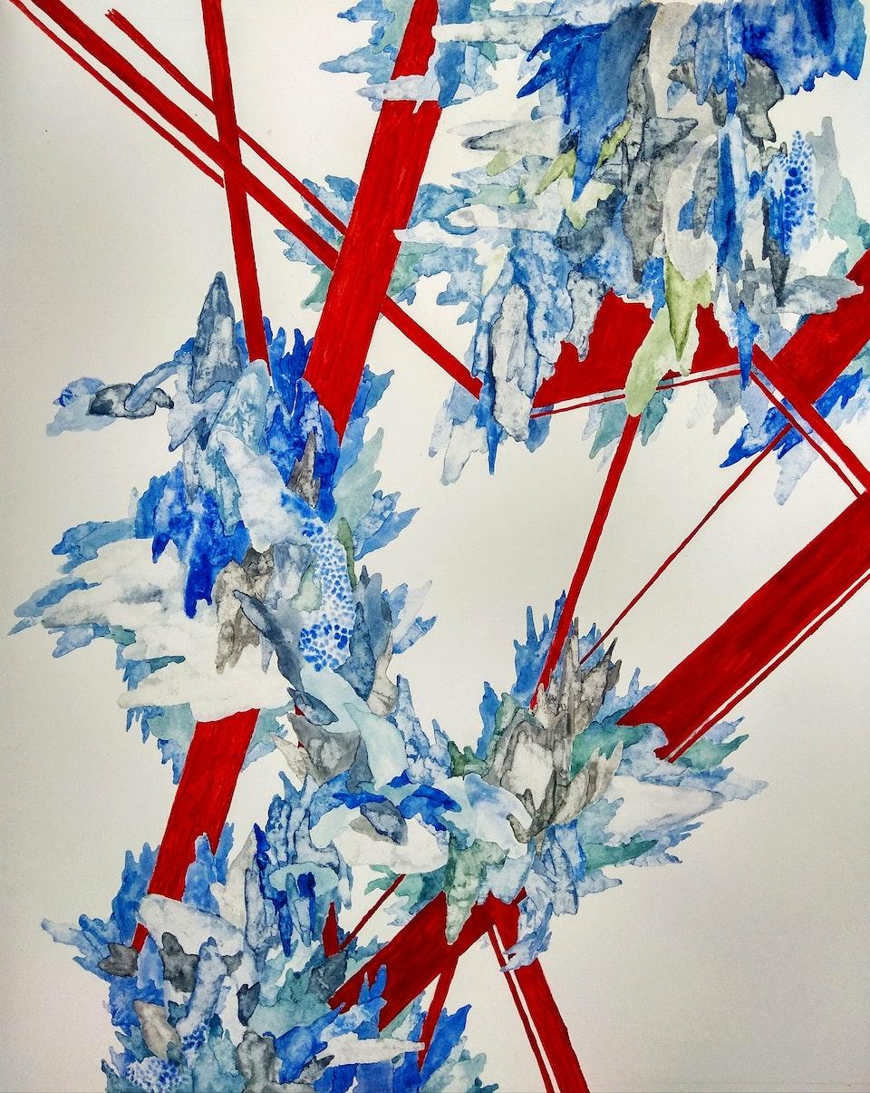 Veine - Veine, 2019 Watercolour and Ink on Paper 56 x 48 cm R17 500,00 (Framed) E.R. unshown