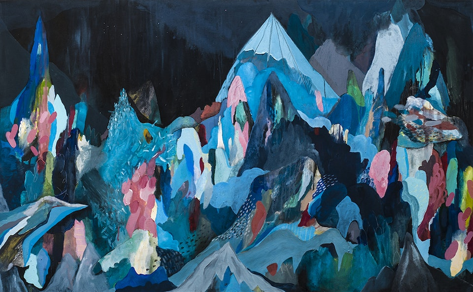 """Justin Southey 2015_Highlands - Justin Southey 2015 """"Highlands"""" Oil On Canvass 1150mm x 1860mm EverardRead/Circa Sold"""