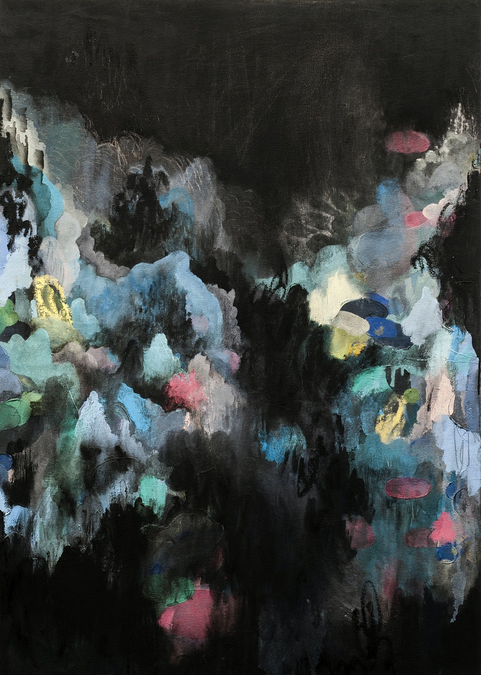 """Justin Southey 2016_Cascade - Justin Southey """"Cascade"""" 2016 Oil on Canvass 992mm x 692mm ZAR 24500"""