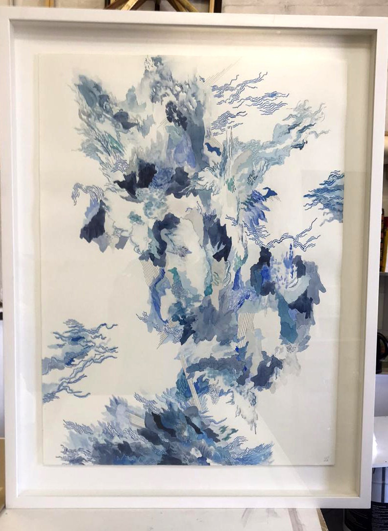 Blue framed -