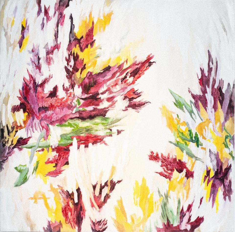 "Floraison_2019_JustinSouthey - Justin Southey 2019 ""Floraison"" Oil on Canvas 1000mm x 1000mm ZAR 27500"