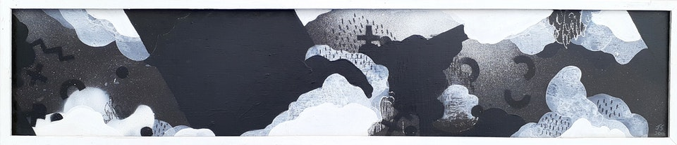"""Dawn_JustinSouthey_2016 - Justin Southey 2016 'Young is the Dawn""""  Mixed media on board 910mm x 20mm ZAR 5500"""
