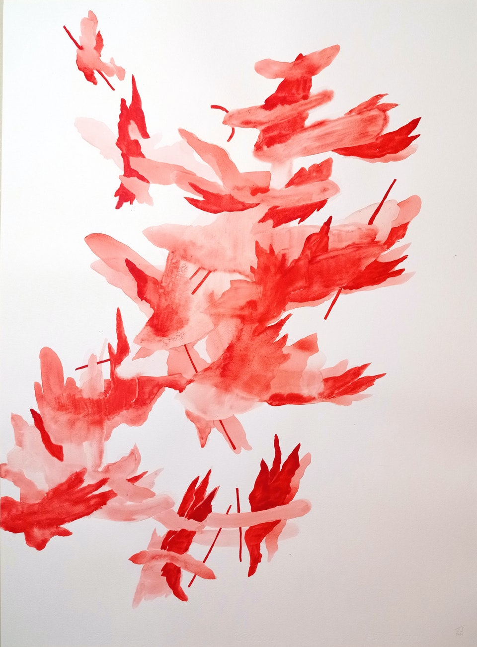 Blaze IV_2021_Justin Southey - Justin Southey 2021 Blaze IV Acrylic ink on paper 75cm x 55cm  ZAR 20 500