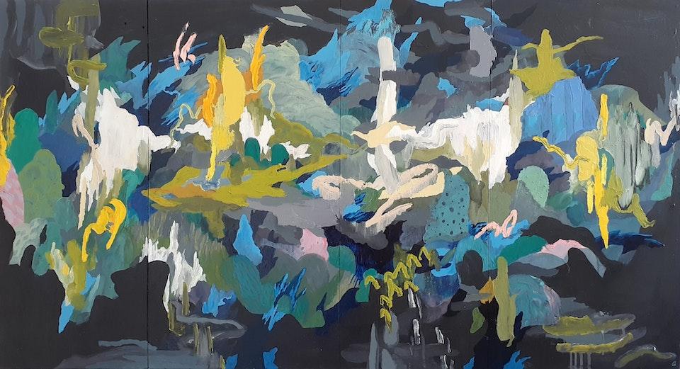 Illuminus_JustinSouthey_2019 - Justin Southey Illuminus, 2019 Oil on panelled board 69 x 128,5 cm ZAR 28 000,00 E.R. unshown