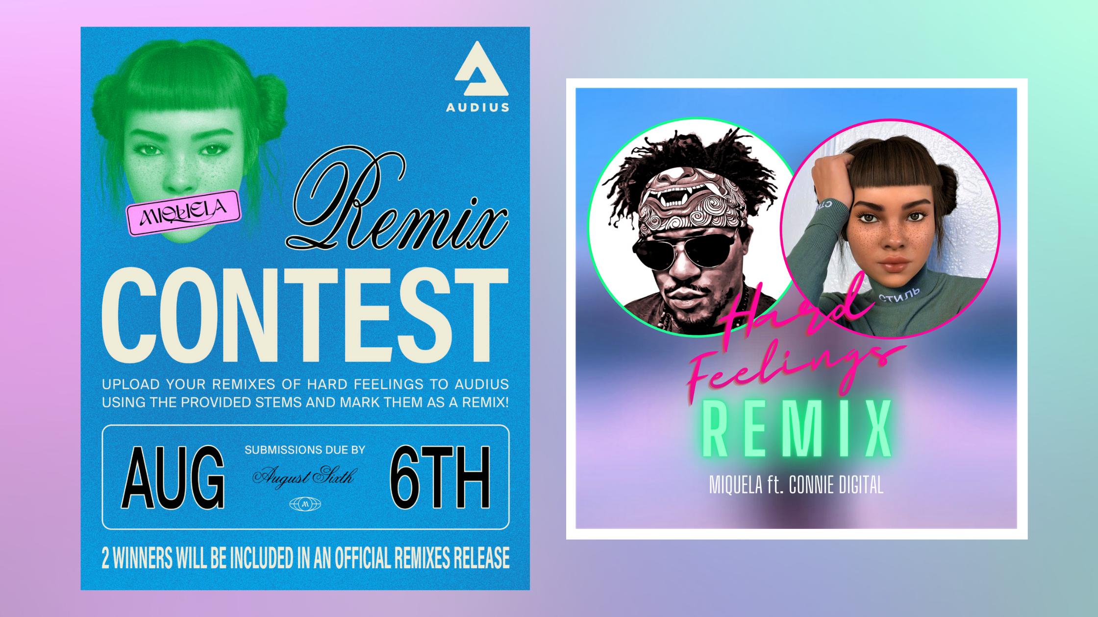 Audius Contest Miquela Hard Feelings Connie Digital Remix