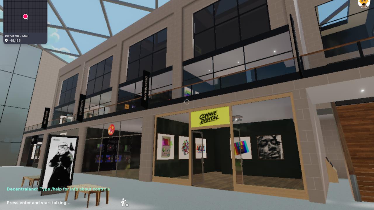 Connie Digital Virtual Art Gallery_11_Decentraland