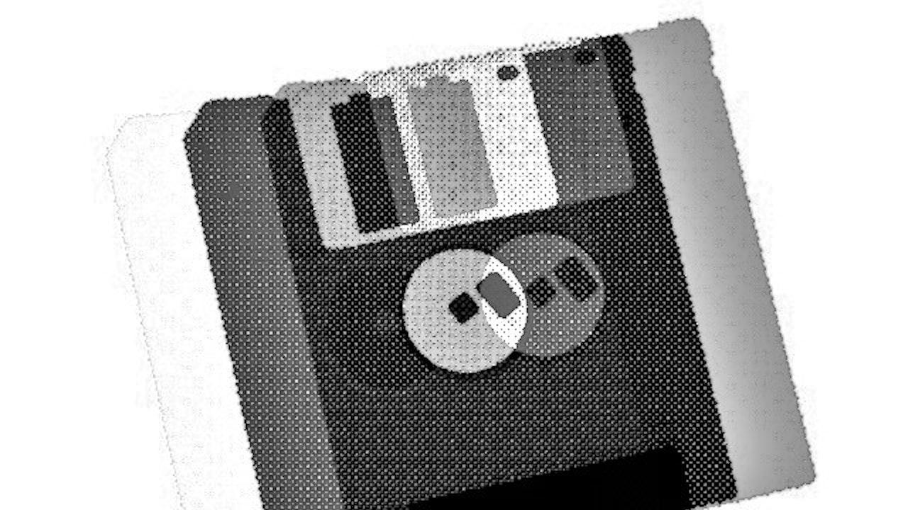 Achromatic Floppy Disk #2