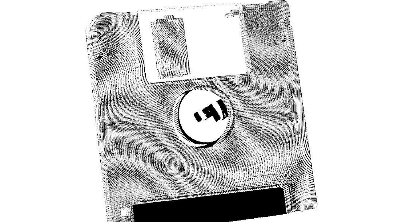 Achromatic Floppy Disk #9