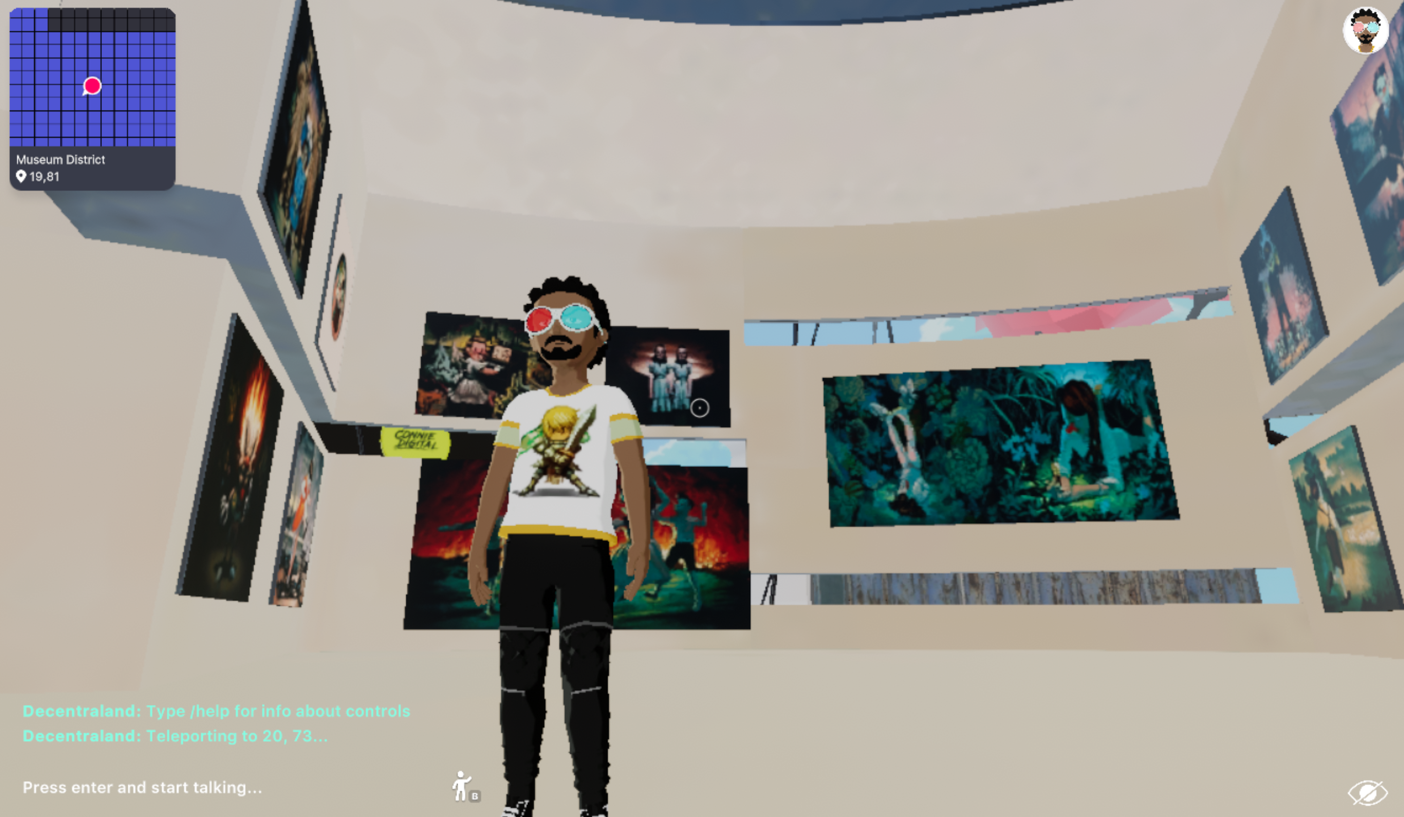 Connie Digital Decentraland Wearables