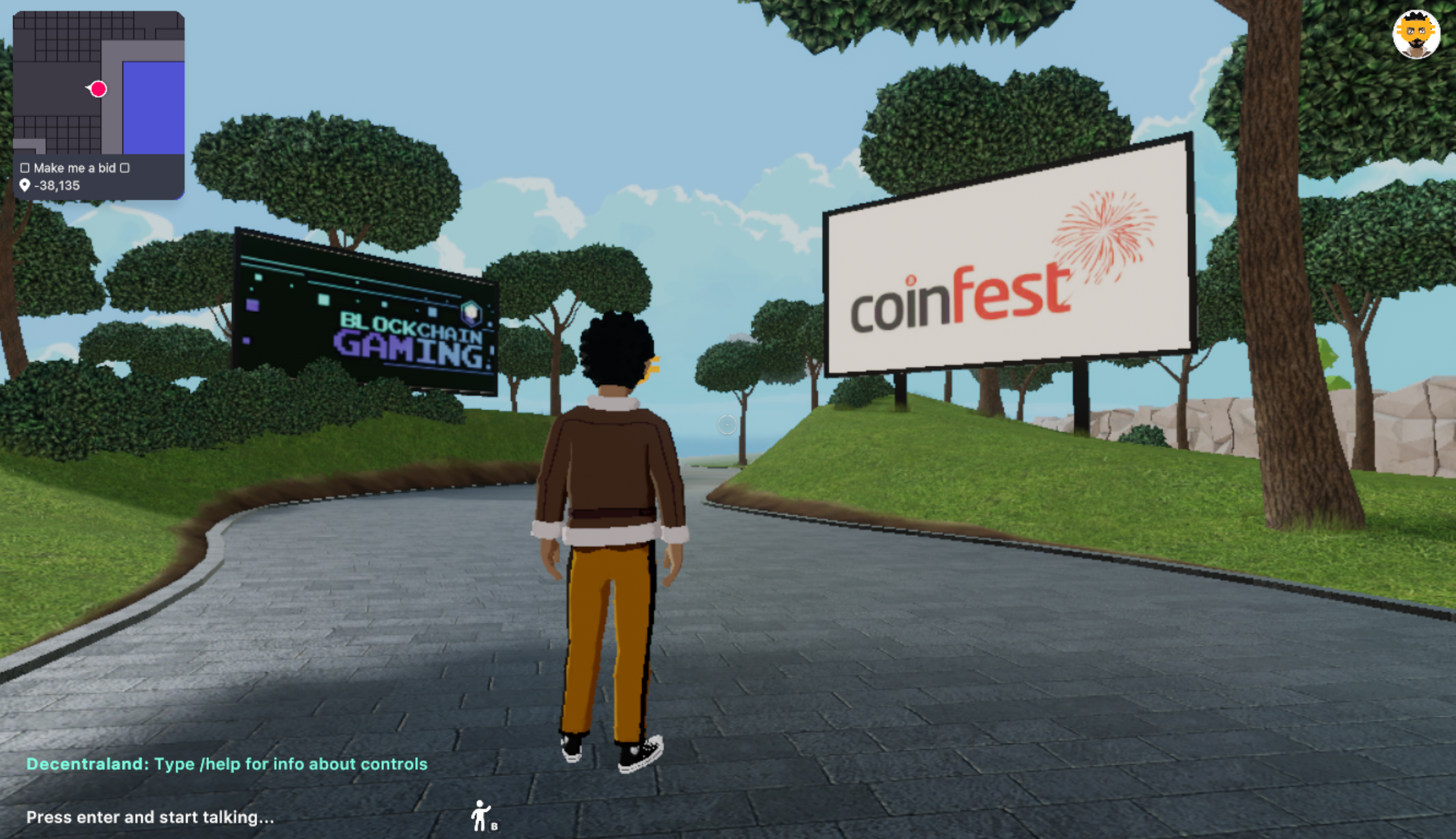 Connie Digital CoinFest in Decentraland