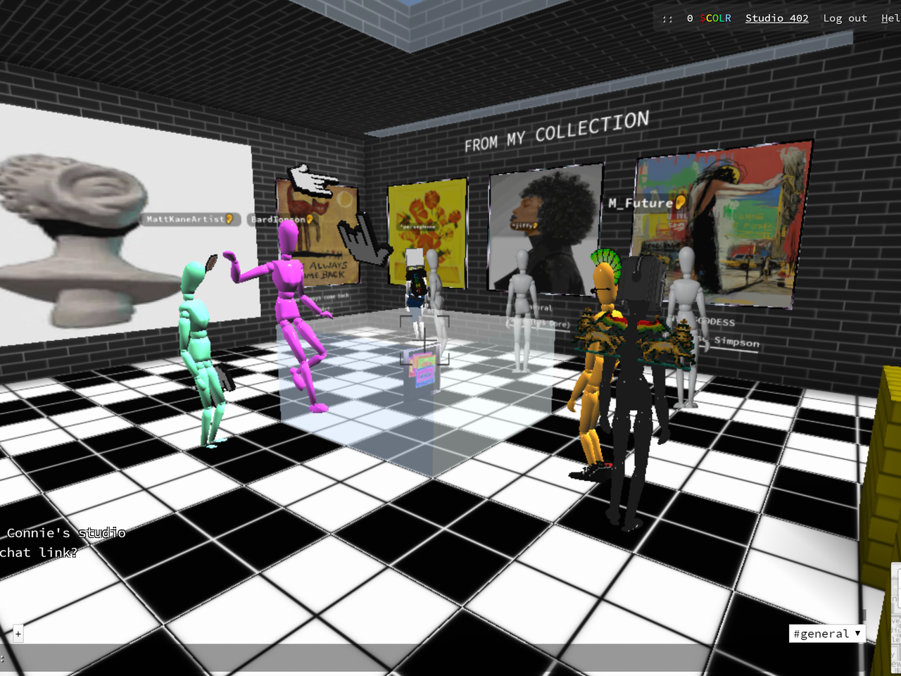 Connie Digital Virtual Art Gallery_A_Cryptovoxels