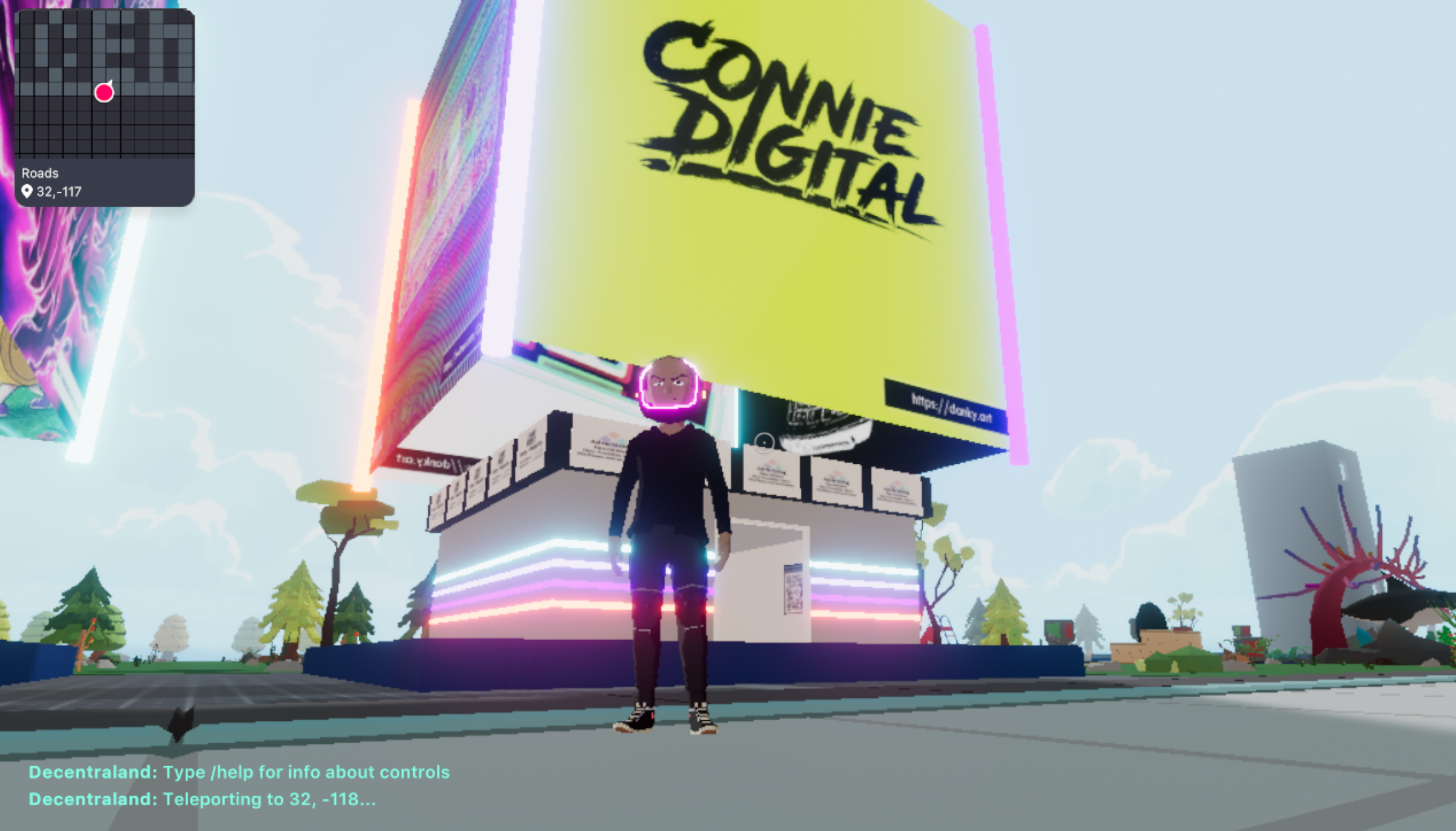 Connie Digital in Decentraland Blockchain VR