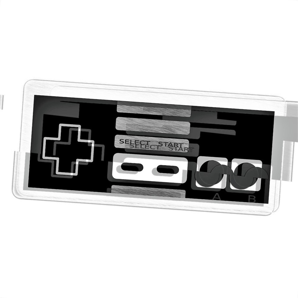 Achromatic NES Controller #2 by Connie Digital