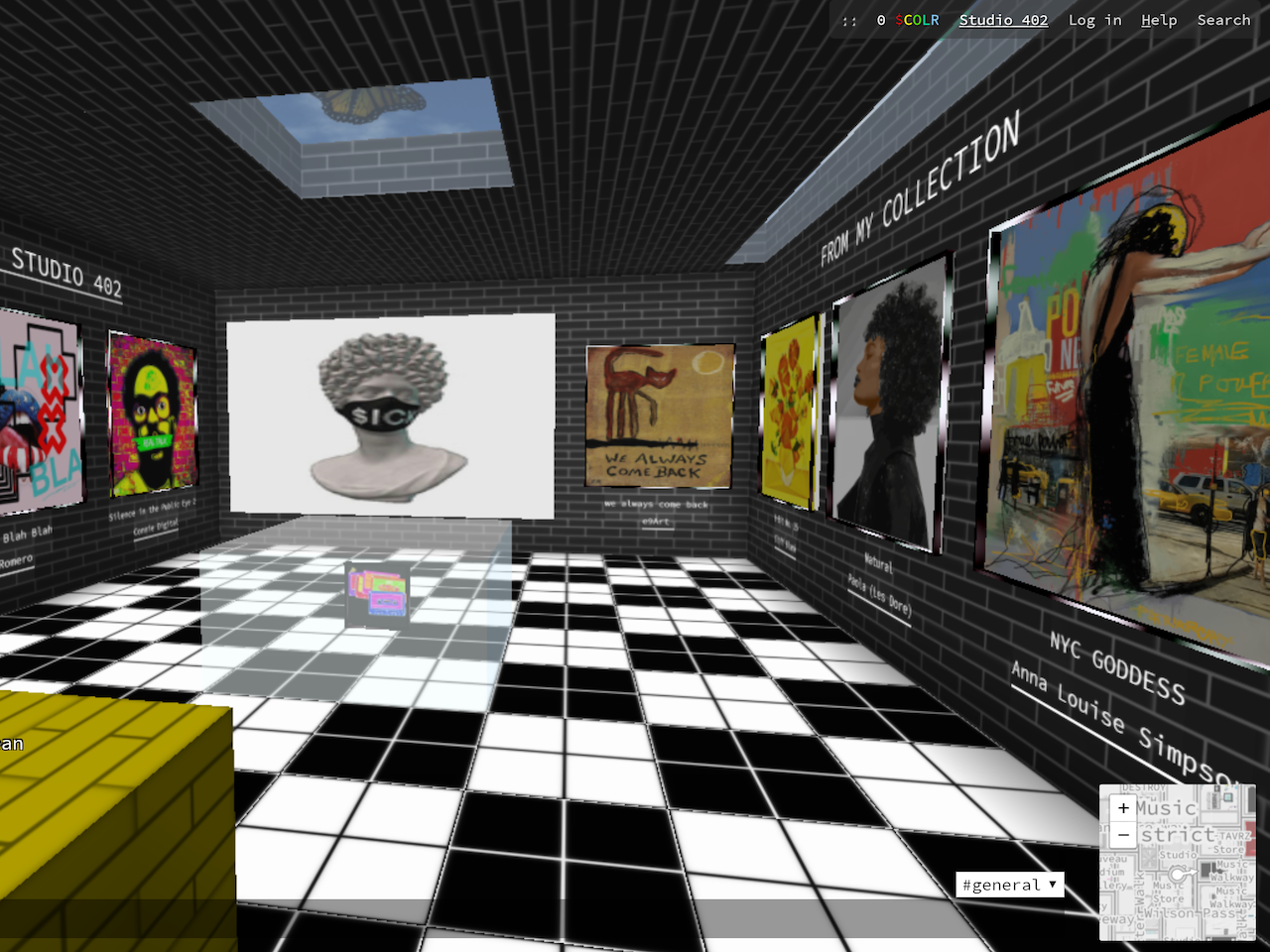 Connie Digital Cryptovoxels Studio 402_Nifties 2