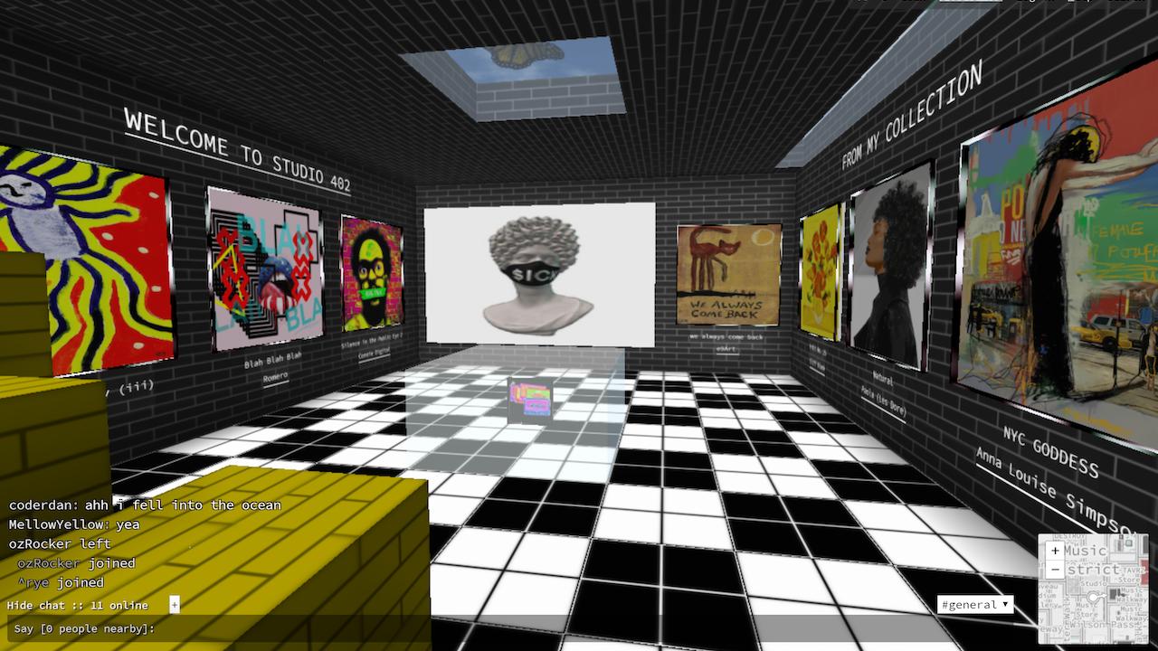 Connie Digital Cryptovoxels Studio 402_Nifties 2