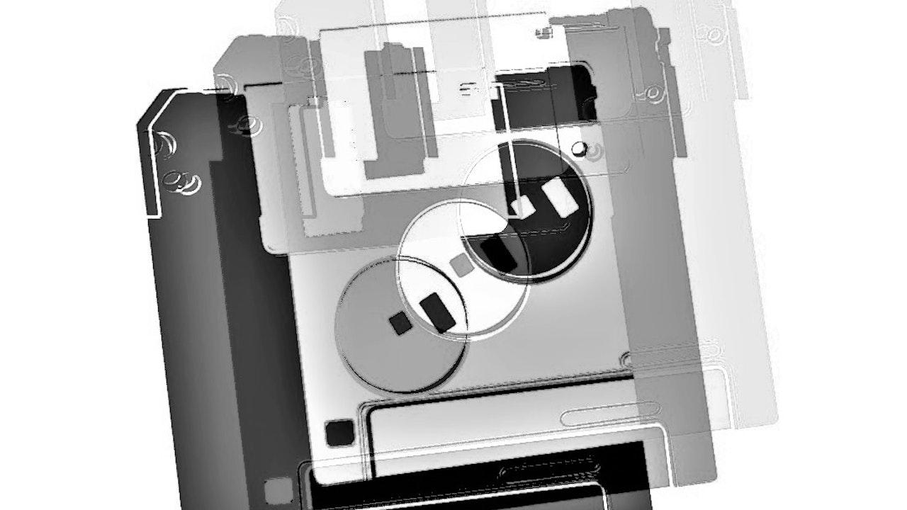 Achromatic Floppy Disk #8