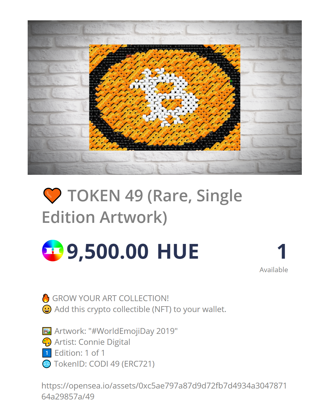 Connie Digital Bitcoin Artwork